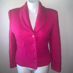 BLOOMINGDALE'S Pink Wool Blend Blazer Size 12